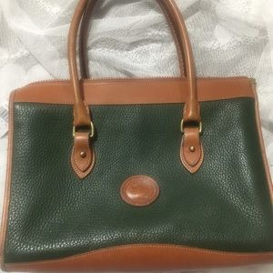 Vintage Dooney and Bourke green leather purse